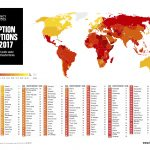 CPI 2017 global map and country results